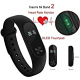 Original Xiaomi Mi Band 2 Pulse Heart Rate Wristband IP67 Bluetooth 4.0 Smartband Fitness Tracker With LED Light...