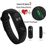 Original Xiaomi Mi Band 2 Pulse Heart Rate Wristband IP67 Bluetooth 4.0 Smartband Fitness Tracker With LED Light...