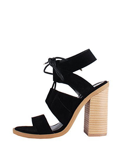 Windsor Smith Tyra Black Suede - Sandali Neri Scamosciati