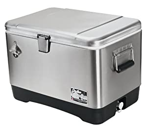 Amazon.com : Igloo Stainless Steel 54 quart Cooler : Steel Belted