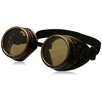 Leegoal(TM) Vintage Steampunk Goggles Glasses Welding Cyber Punk Gothic