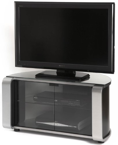 Off The Wall Flat Panel TV Cabinet in Silver