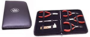Totally Tools 7-Piece Professional Jewelry/Beading Ergonomic Tool Kit with Leather Case