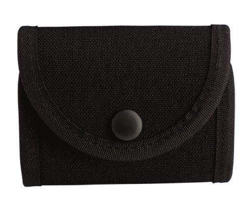 Uncle Mike's Kodra Duty Nylon Web Double Snap Close Latex Glove Pouch, Black