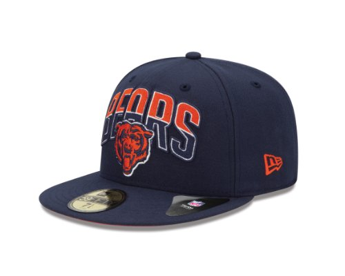 NFL Chicago Bears 2013 Draft 59FIFTY Fitted Cap Blue, 7 3/8 at Amazon.com
