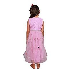 Sparkling Threads Pink color ankle length gown style dress for kids