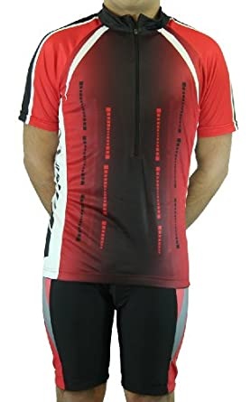 Men's Sublimated Print Race Cut Short-Sleeve Biking Cycling Jersey