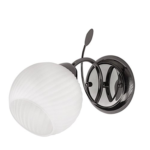 Applique style moderne, armature en métal couleur nikel, plafonnier en verre 1 ampoule E27 1x60W 230V