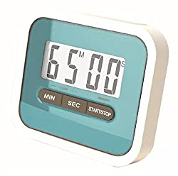 Gadget Hero's Compact Lab & Kitchen Timer With Alarm, Large Digital LCD Display. With Table Stand & Fridge Magnet Blue