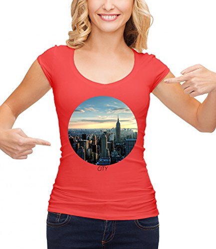 AMAZING AUSTRALIA CITY Women's CLASSIC Crew neck T-Shirt Rosso Medium