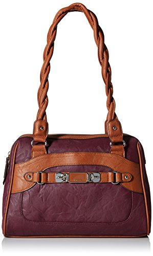 rosetti-twist-it-up-satchel-two-tone-top-handle-bag-cordovan-one-size
