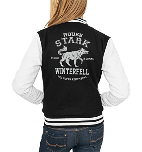 House Stark College Vest Girls Nero Certified Freak-S