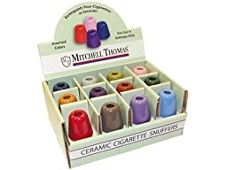 Ceramic Cigarette Snuffer 24ct Display Comes Assorted Colors