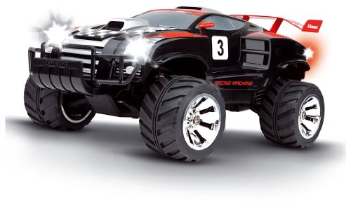 Imagen 2 de Carrera RC - Racing Machine 4 x 4, coche con radiocontrol, escala 1:12, color negro (Carrera 120008)