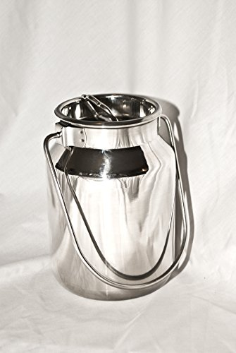 2 Qt Stainless Steel Milk Can Tote (2 Qt) (Stainless Steel Pail With Lid compare prices)