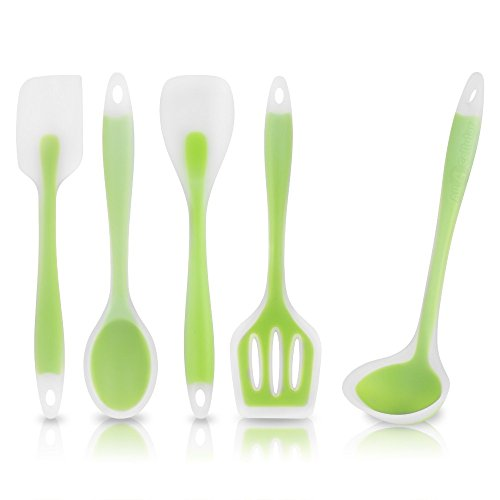 KARP™ Home Kitchen Tools-Complete Baking Set Of 5: Spatula, Turner, Scraper, Mixing Spoon & Soup Laddle-Non-Stick...