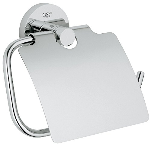 Grohe Essentials WC-Papierrollenhalter mit Deckel, chrom