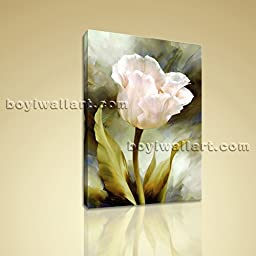 Contemporary Abstract Floral Canvas Print Flower Wall Art For Bedroom Home Decor Gallery Stretched Ready To Hang 16\