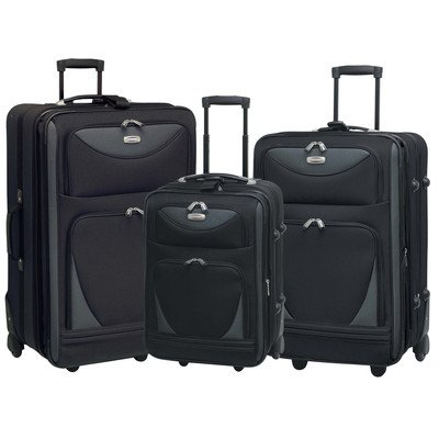 Sky View Collection- 3pc EVA Expandable 3 pc set in Black
