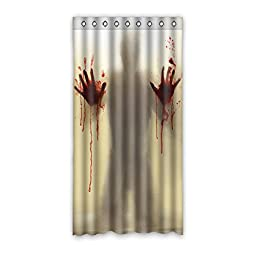 House Decors Innovative Design Bloody Printing Polyester Custom Blackout Window Curtains 50\