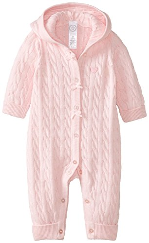 Little Me Baby-Girls Newborn Cable Coverall, Light Pink, 6 Months front-897091