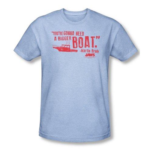 Jaws 1975 Thriller Movie Steven Spielberg Bigger Boat Adult Heather T-Shirt Tee