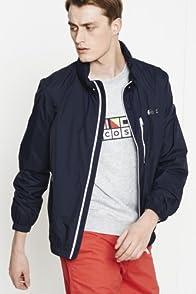 Nautical Hooded Taffeta Outerwear Jacket