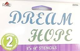 Dream Hope 5 x 18 Inch Stencils