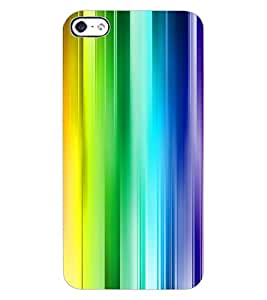 ColourCraft Colourful Bars Design Back Case Cover for APPLE IPHONE 4