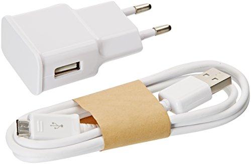 Samsung ETA-U90EWE + ECBDU4AWE Alimentatore e Cavo Micro USB, Compatibili con Galaxy S4/S5/S6 Edge, 2 A, 2000 mAh, Bianco