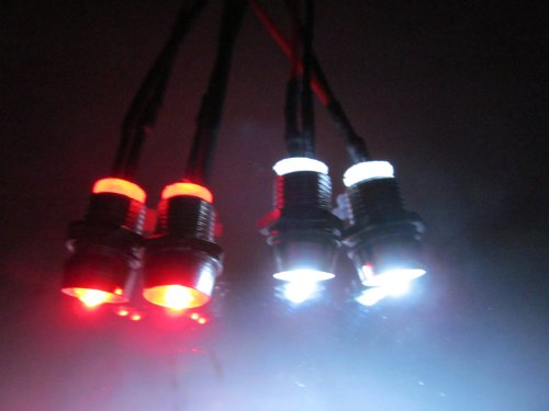 Boesch Built Rc Led Light Kit- 2 White 5Mm, 2 Red 5Mm Pre Wired 12 Volt Leds With Bezels; And A 9V Battery Connector- Ledrc-04