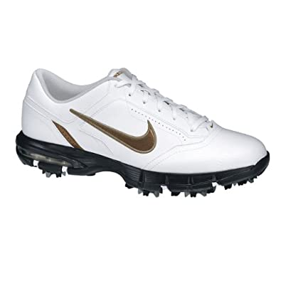 Nike Men's Air Rival Golf Shoes (Medium) (10.5 D(M), White/Khaki/Medium Brown)