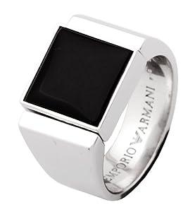 emporio armani s ring silver black eg2168040