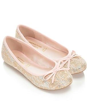 Monsoon Filles Ballerines en dentelle pailletée Taille Chaussures 24 Rose