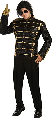 Michael Jackson Deluxe Black Military Jacket Costume - Medium - Chest Size 40-42