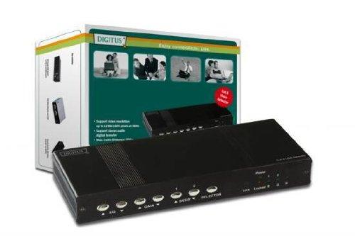 DIGITUS Switch VGA + Audio, 2 ports, sur cat.5, jusqu'à 300m