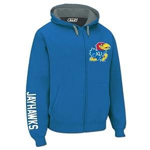 Kansas Jayhawks Hooded Full Zip Logo Sweatshirt by E5