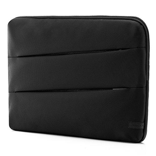 deleyCON-Tablet-Tasche-Notebooktasche-fr-Notebook-Laptop-Tablet-bis-156-396cm-TascheHlle-aus-robustem-Polyester-mit-2-Zubehrfchern-und-verstrkten-Polsterwnden-schwarz