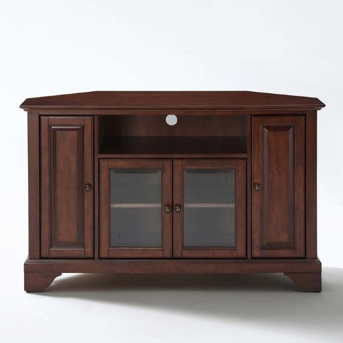 black friday crosley furniture lafayette 48 inch corner tv stand vintage mahogany cyber monday