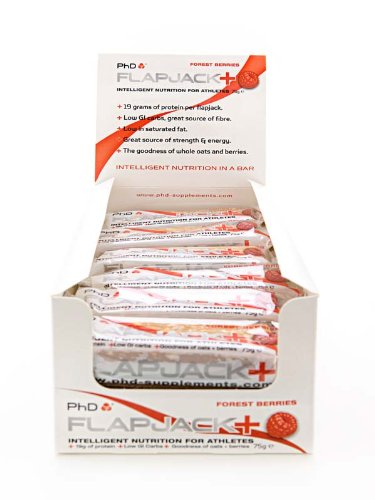 PhD Protein Flapjack Berry Flavoured 75g Nutrition Bar 24 Bars
