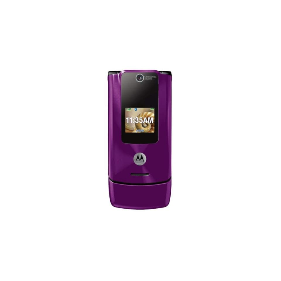 Motorola W510 Unlocked Phone with Camera, Media Player, Stereo Bluetooth, and MicroSD Slot  U.S. Version with Warranty (Purple)