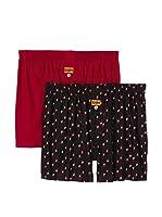 Dim Pack x 2 Bóxers (Negro / Rojo)
