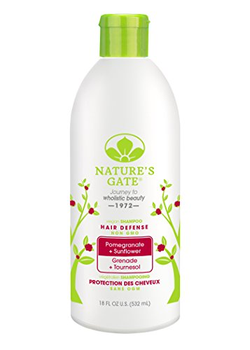 Nature's Gate Pomegranate Sunflower Hair Defense Shampoo, 18-Ounce Bottles (Pack of 3)