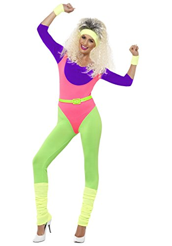 Smiffy's Women's 80's Work Out Costume - XS to M