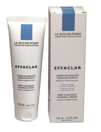 La Roche-Posay Effaclar Deep Cleansing Foaming Cream (125ml) 4.2 Fluid Ounce Tube