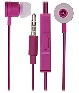 Jkobi 3.5mm In Ear Bud Handsfree Headset Earphones With Mic Compatible For Motorola Moto G4 Plus -Purple