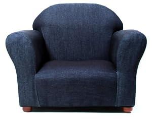 Fantasy Furniture Roundy Chair Denim, Blue