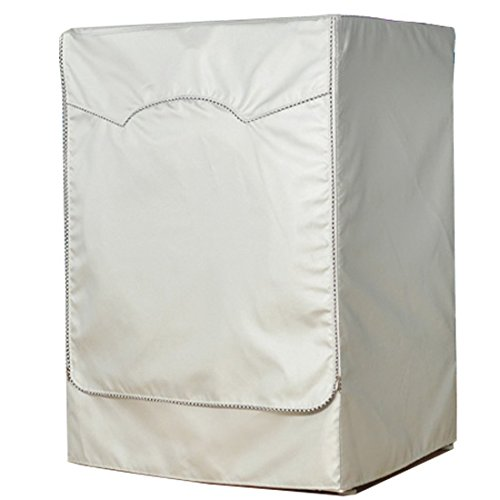 vezvier-silver-waterproof-washer-cover-sunscreen-front-load-dryer-washing-appliance-dustproof-protec