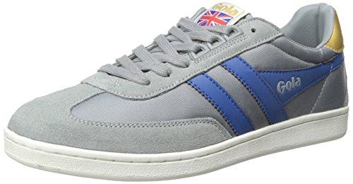 Gola Men's Europa Fashion Sneaker, Grey/Blue, 10 M US