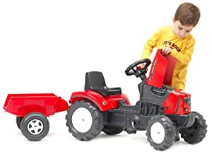 Falk 133 x 42 x 54cm Lander Tractor and Trailer